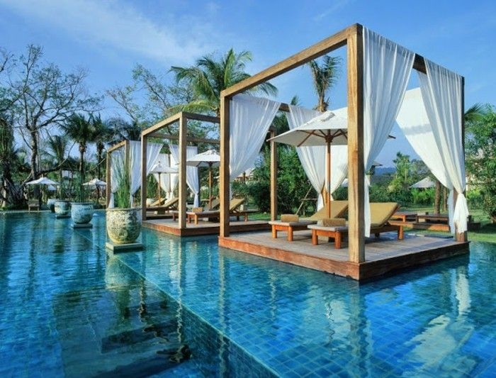 effective-design-pergola-of-wood-chic-pool design