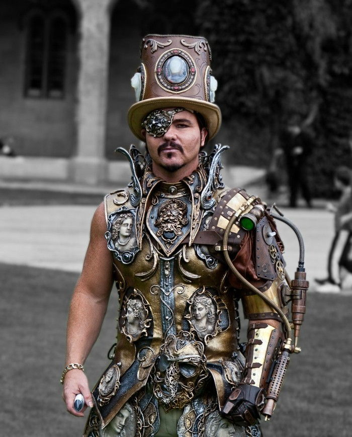 a-fancy-steampunk Armor-of-metal-and-a-steampunk-hats-from-metal