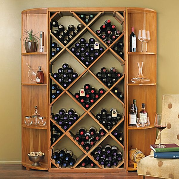 bottle shelf-self-build- very large, made of wood