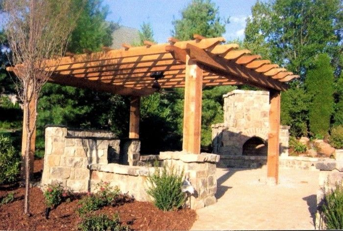 garden-beautiful-and-cozy-make-pergola-from-wood