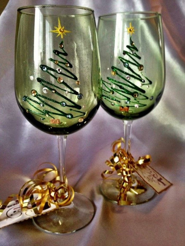 shiny Festive Decoration for champagne glasses