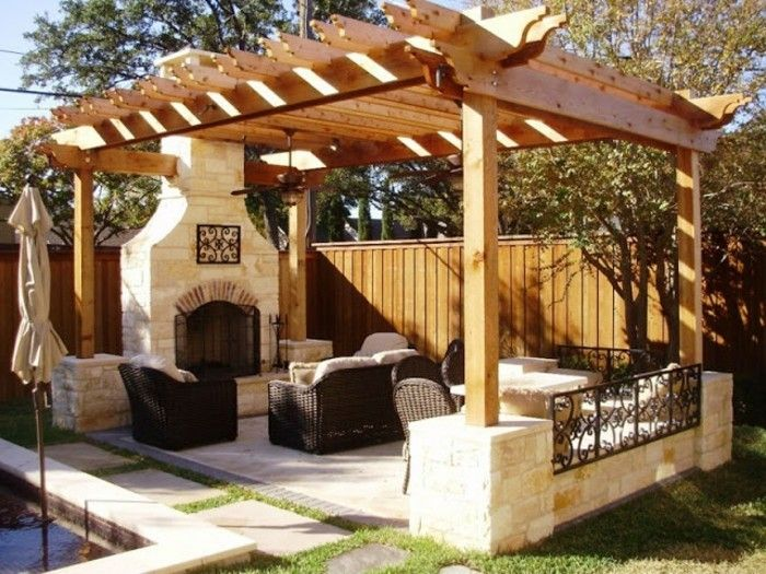gorgeous-ambiente-the-garden-great-design-of-pergola-from-wood