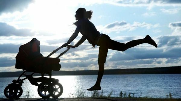 inspiring photo-of-a-mother-with-stroller-sport-drive-on-beach