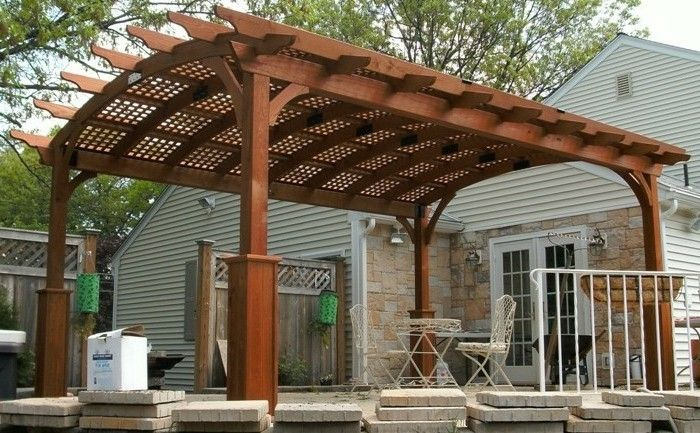 interesting-outside design-pergola-of-wood-modern-exterior