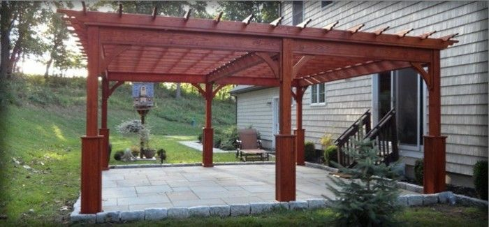 interesting photo-pergola-of-wood-attractive-exterior design