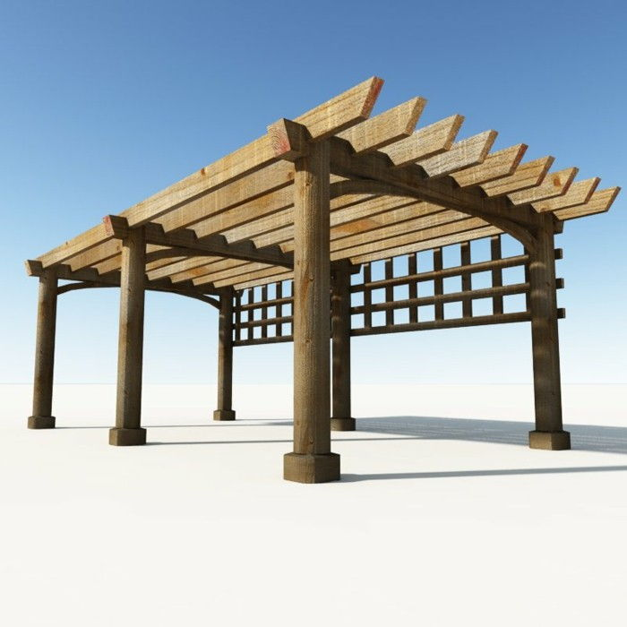 interesting-model-pergola-from-wood Elegant Background