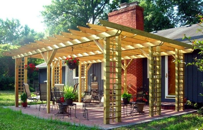 interesting-model-pergola-of-wood-interesting-backyard
