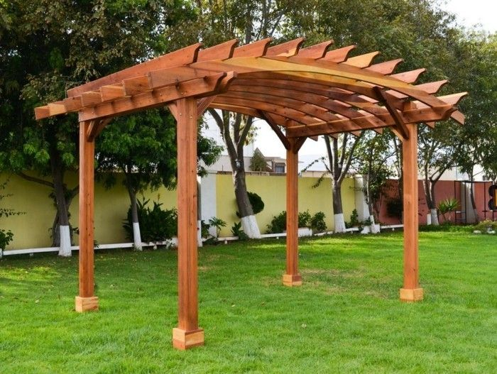 creative-model-pergola-of-wood-green-grass-in-garden