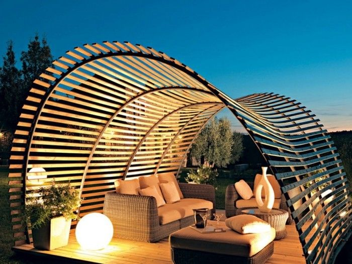 luxury-design-outside-modern-pergola-from-wood