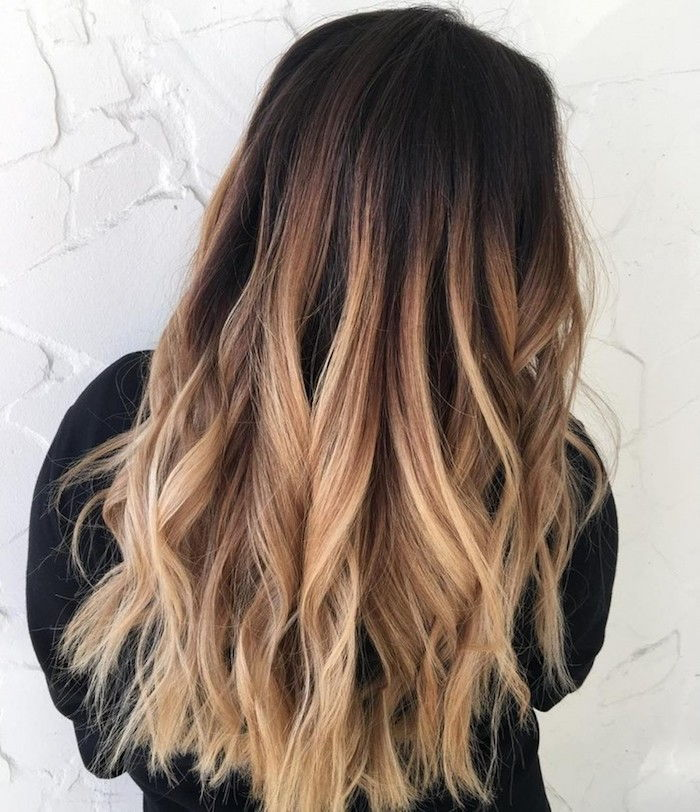 long hair naturally dark brown color with blond strands and spikes more attractive make curling iron curls