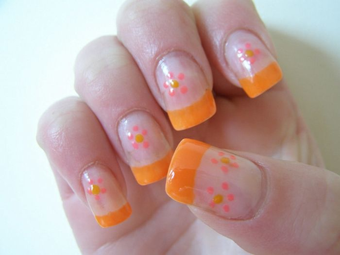 Brand design-with-flowers-orange accents