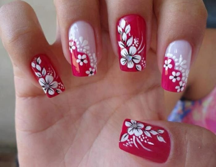 Brand design-with-flowers-great-model-white-and-red