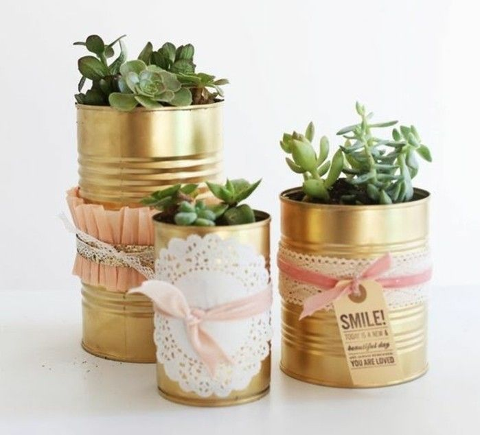 new-craft ideas-Pots-of-cans-grind-deco-green-plant