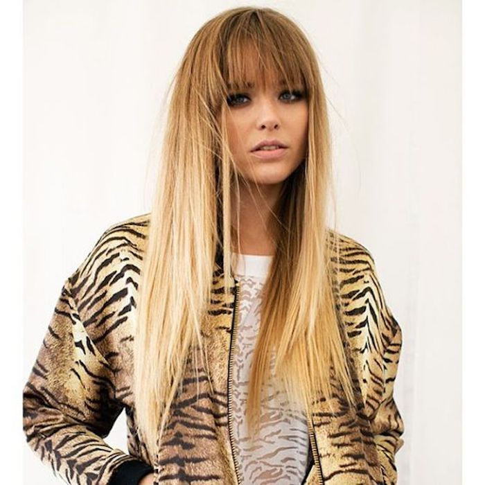 ombre medium-long hair beautiful hair design idea smooth hair hairstyle and clothing combine