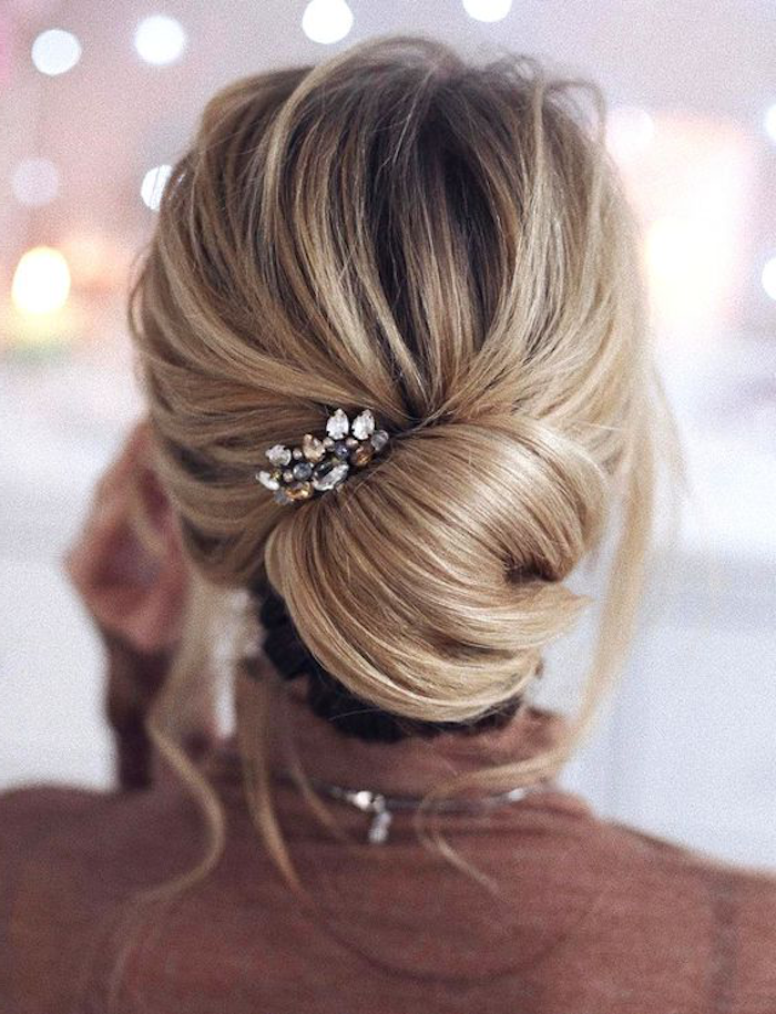brown blond ombre idea for brides wedding hairstyle wedding beautiful decoration for hair
