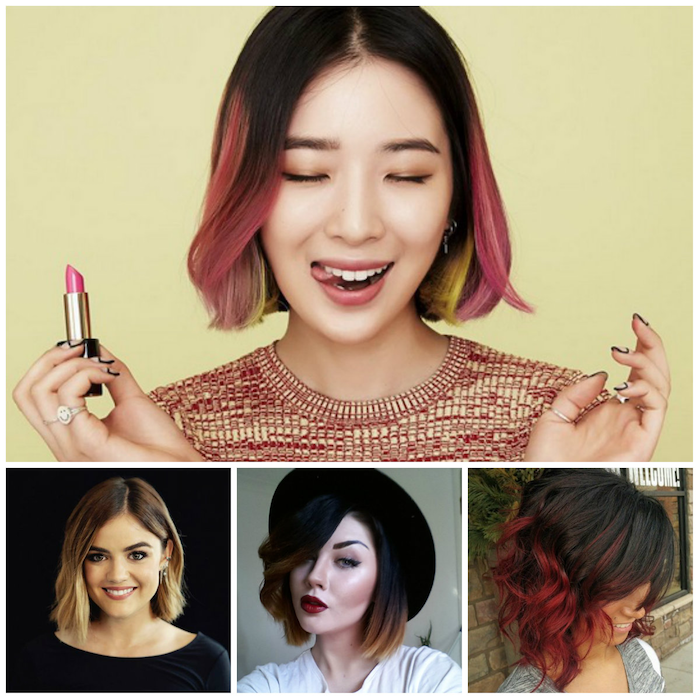 approach dark tips bright beautiful ideas hair with hat decorating red ombre hairstyle