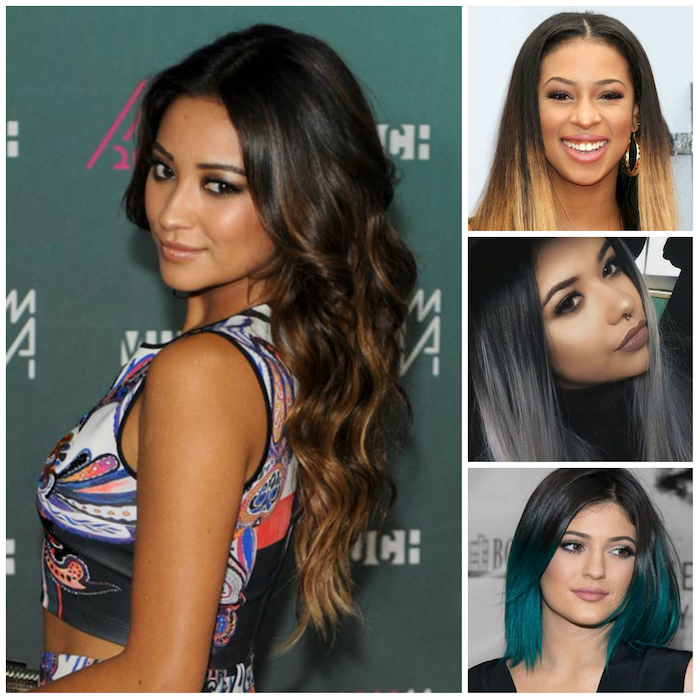 approach dark tips long super long hair with ombre effect great hairstyle green pointy idea