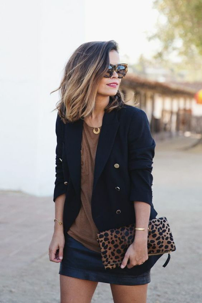Approach dark points bright hair style and outfit should fit together great model leoprint bag