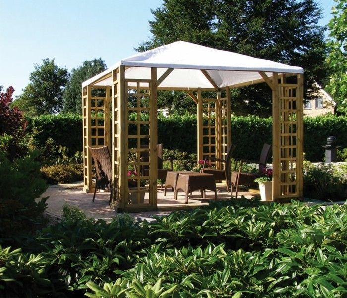 pergola-of-wood-with-white-canopy green-environment