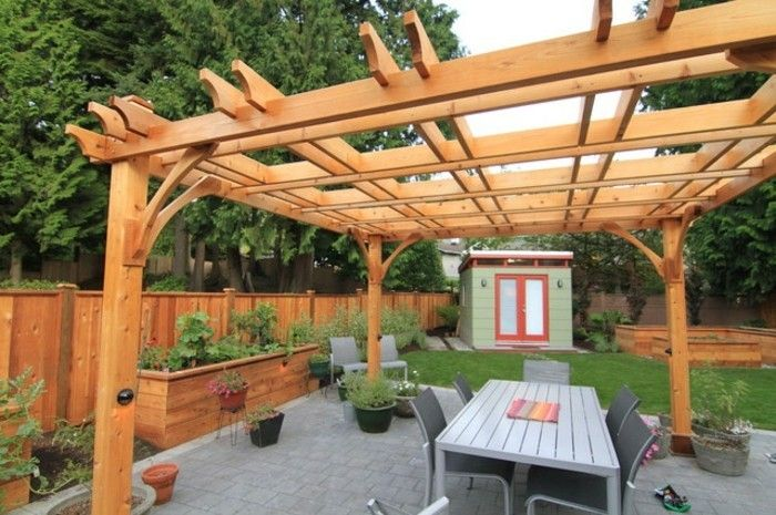 pergola-of-wood-super-design-attractive design-outside