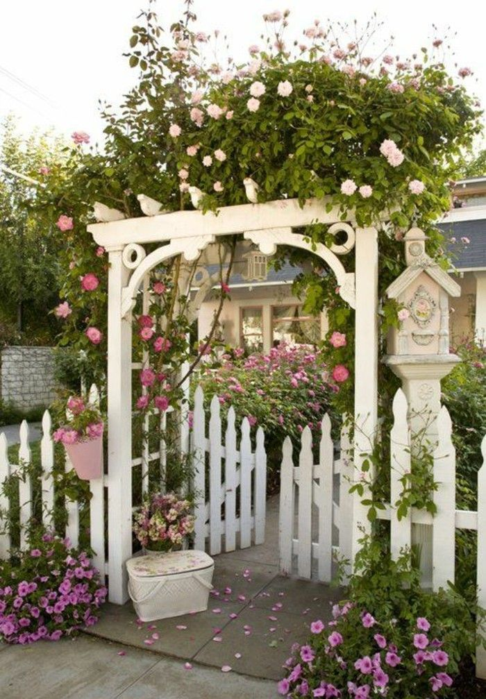 pergola-garden gate and fence-rose-arch