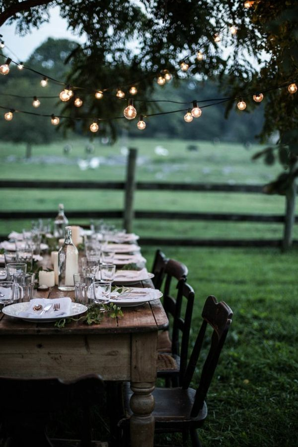 romantic-garden party-tischdeko-in ideas