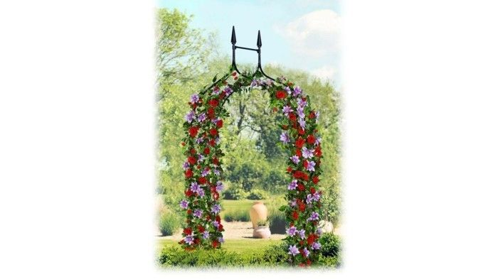 rose arch-red-and-pink-roses
