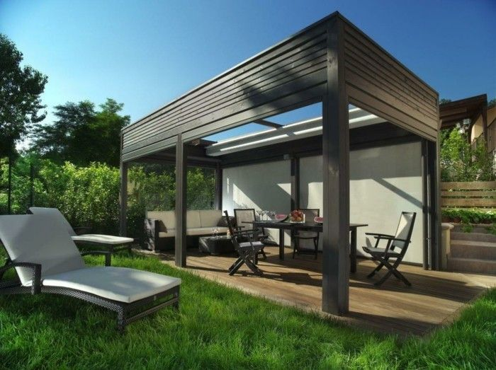 rustic pergola-design-make-out wood-beautiful-garden--