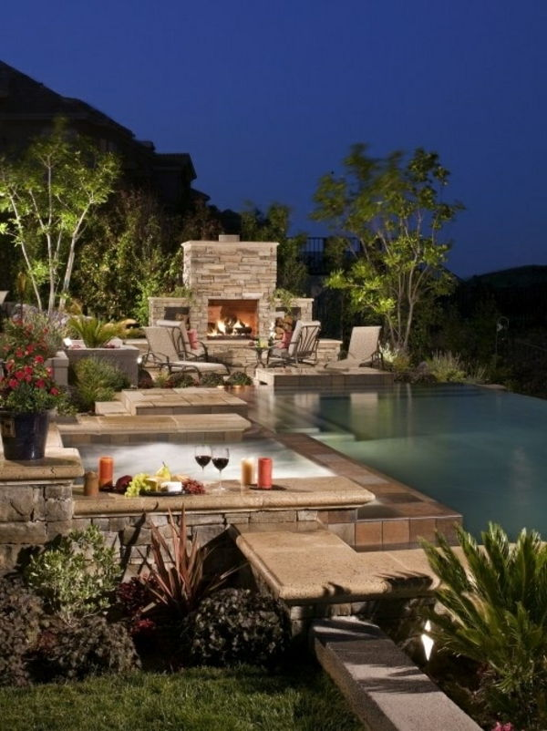 beautiful ideas-for-the-design-of-a-perfect-garden-with- hot tub
