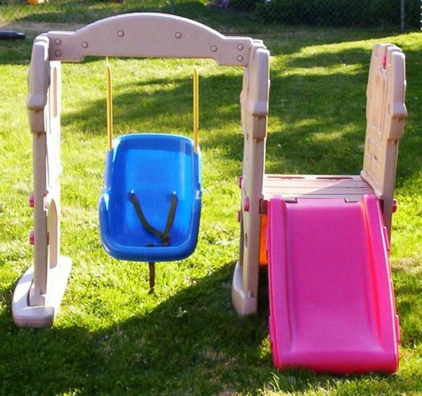 rocking-with-super-sweet-design-and-slide-in-pink-baby swing