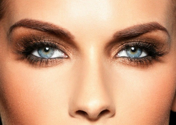 make-up tips Eye eye make-up shade blue-auhen-with-natural-color eyeshadow