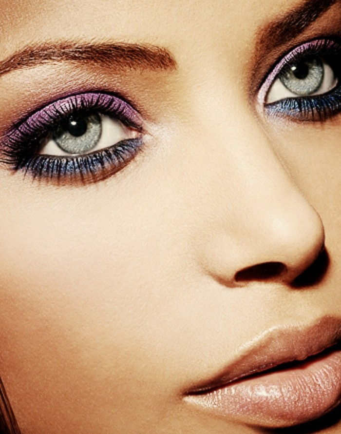 make-up tips-eye-exotic-look-thanks-make-up purple-pink-and-blue eyeshadow idea
