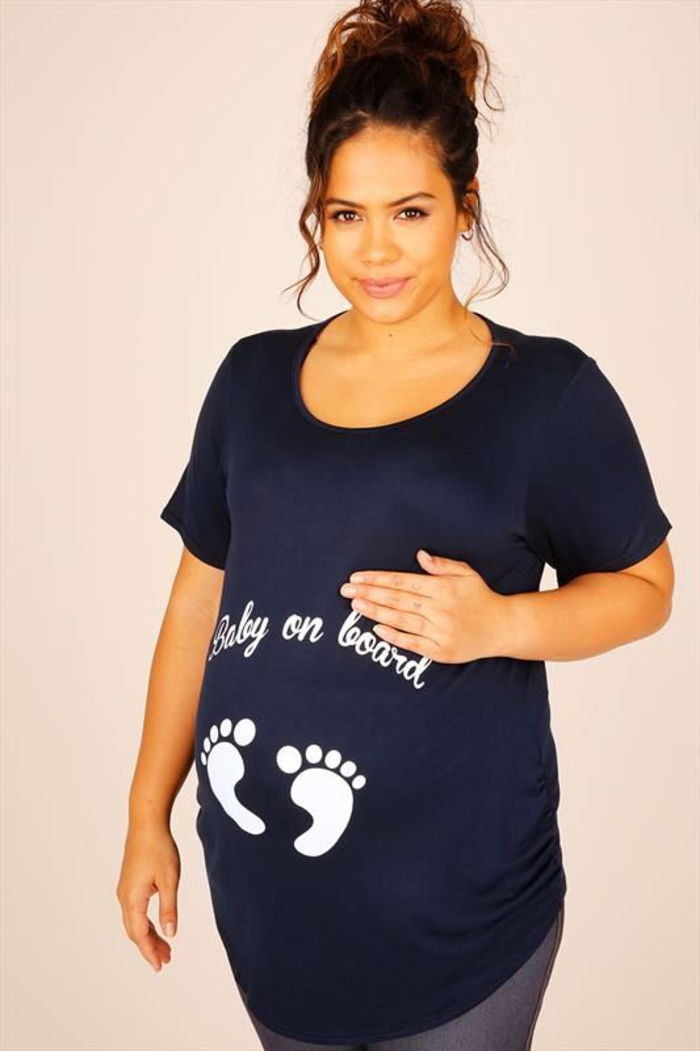 maternity wear, funny shirt, baby on board, wide and comfortable