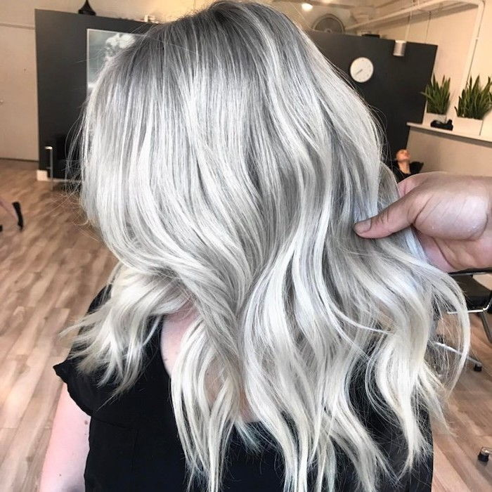 silver blonde hair - silver blonde hair with balayage effect, very gorgeous looking