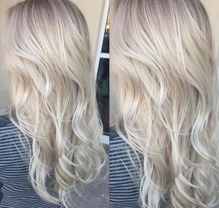 Hair gray tones - long hair from near and far in a casual hairstyle