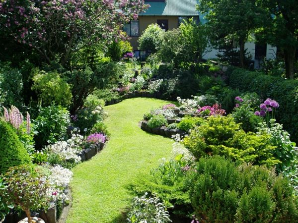 super-attractive-garden-with-many green-plant-and-grass