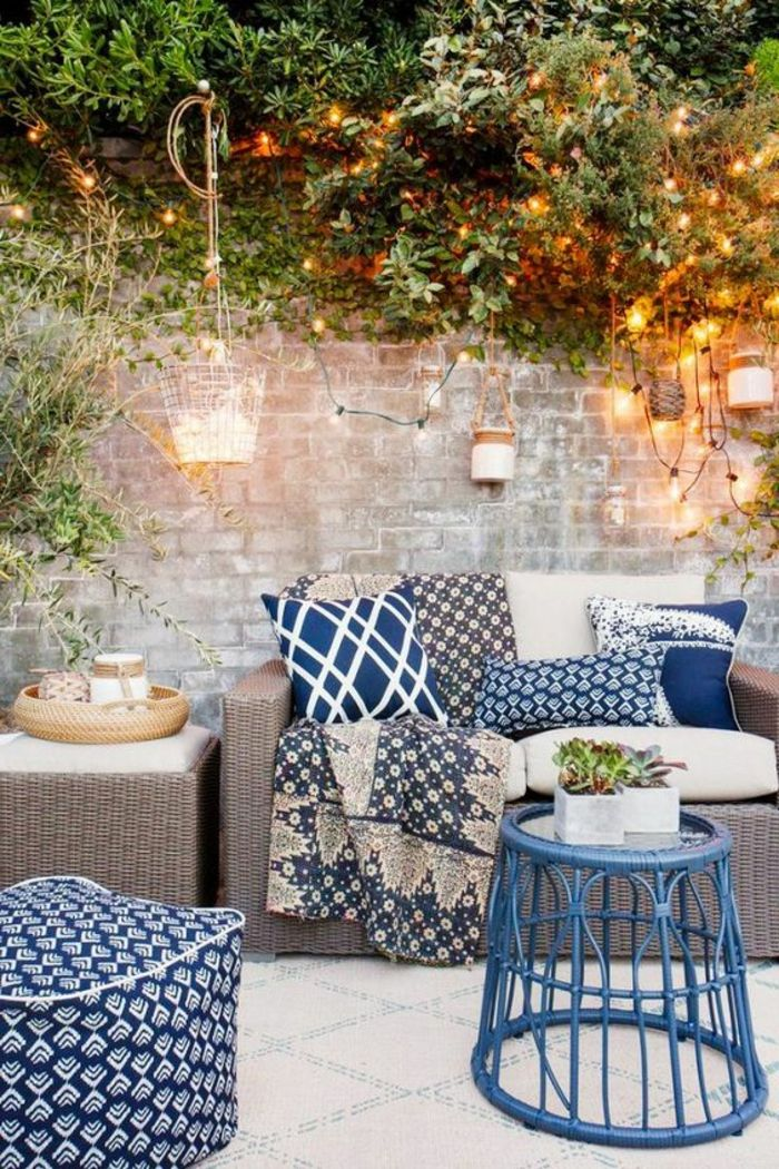 terrace design ideas discreet modern and cozy decor of the terrace blue decoration