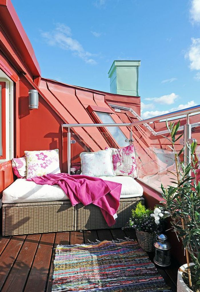 terrace design ideas small roof terrace carpet homemade on the terrace pink blanket pillows