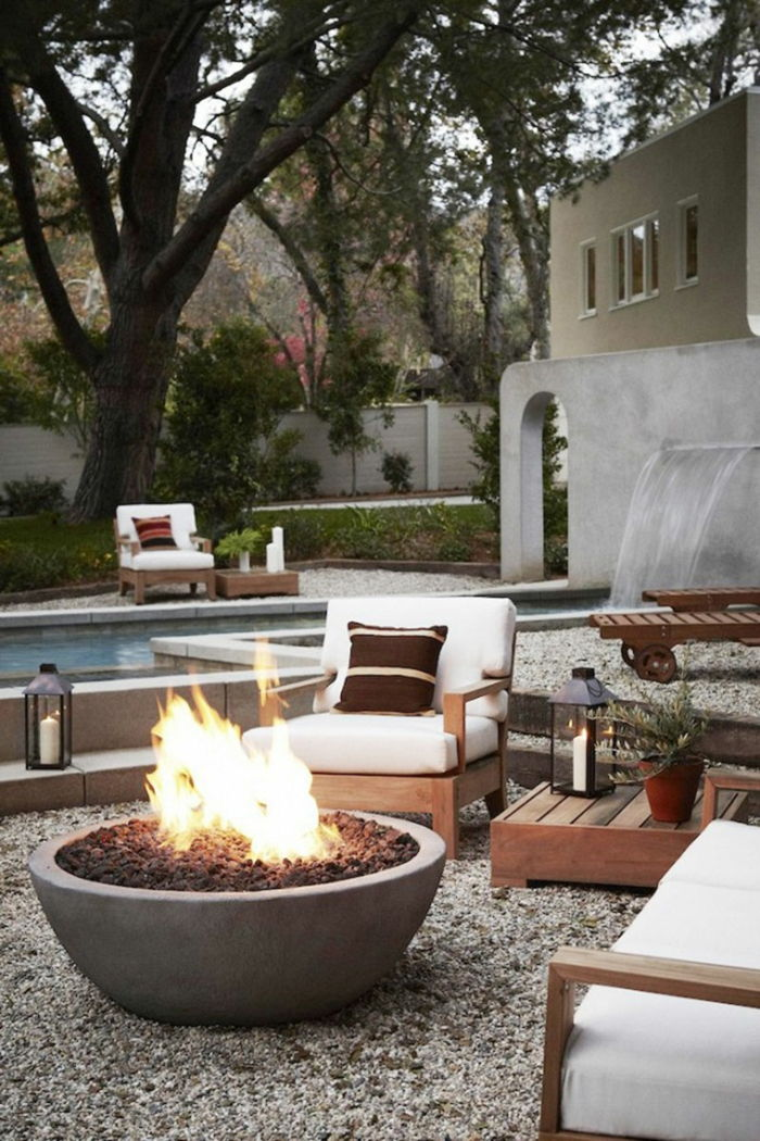 terrace design ideas for decoration fire on the terrace make pool beautiful atmosphere