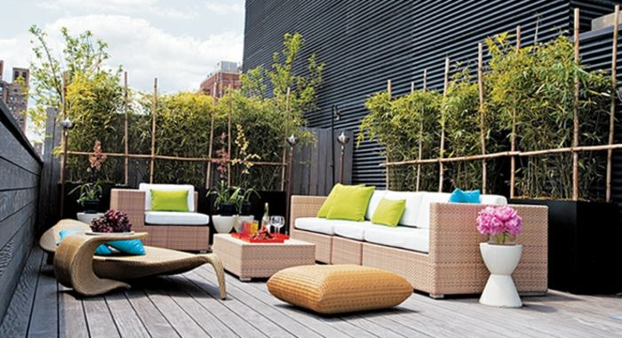 terrace design ideas images subtle design and fine decoration rattan furniture colorful deco flowers