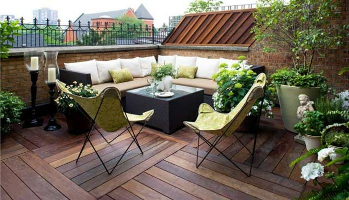 terraces pictures beautiful terrace roof terrace natural look wooden environment green and white deco