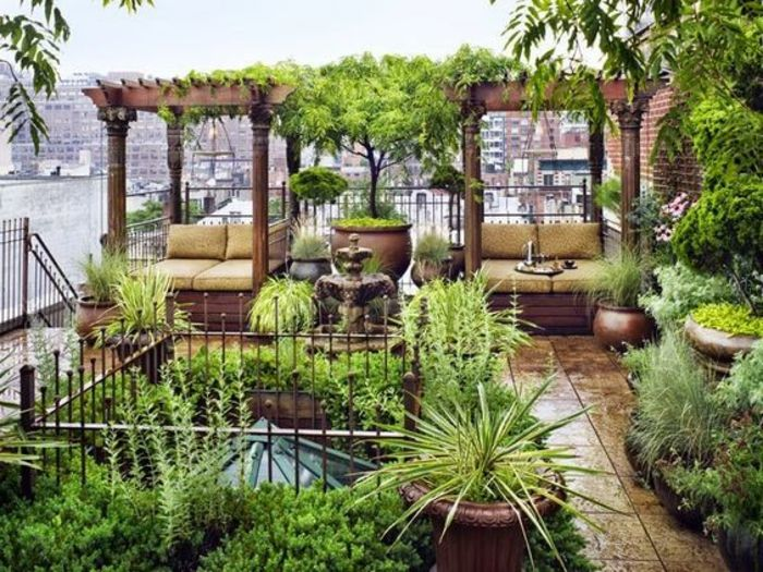 terraces ideas colorful ideas with many plants green color on the terrace like a garden