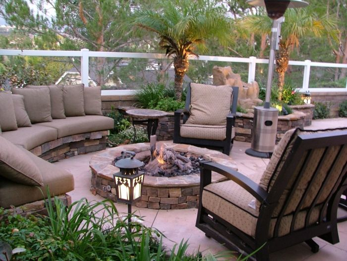 terrace ideas garden decorating fireplace in the garden terrace armchair sofa planting palms