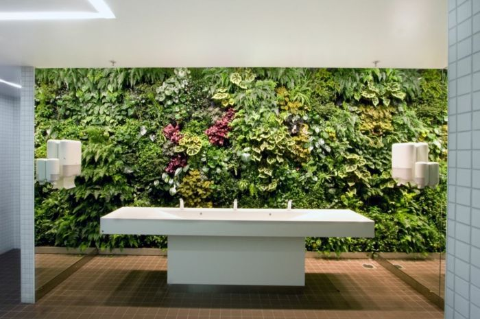 A vertical garden can be planted everywhere - but not in the bathroom