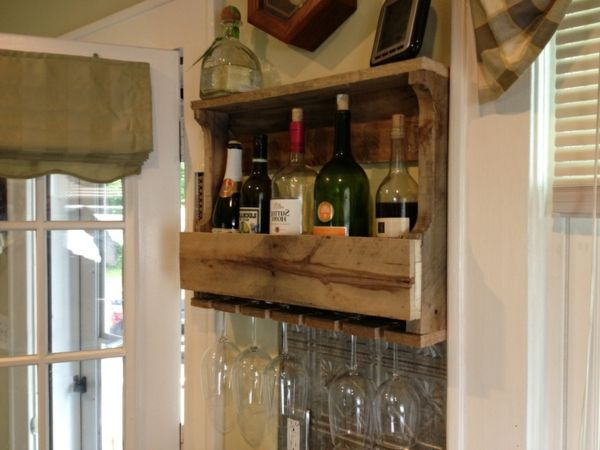 wine rack-self-build-out-wood-in the room