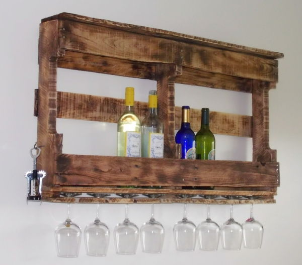 wine rack-self-build-creative-design-to-hang on the wall